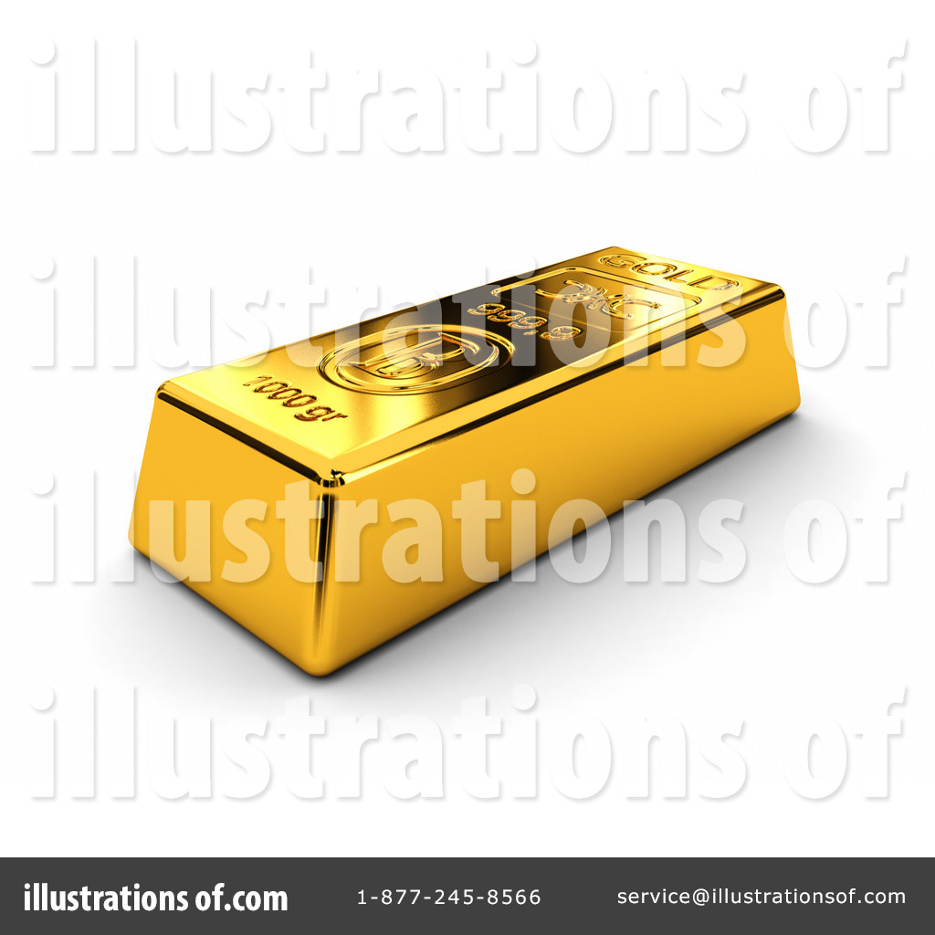 Royalty Free RF Gold Bar Clipart Illustration 1058062 By Stockillustrations