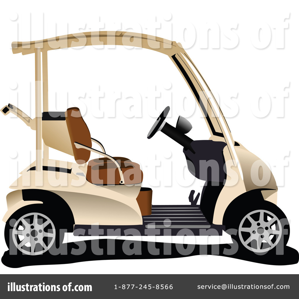 Golf Cart Clipart #1068241 - Illustration by leonid