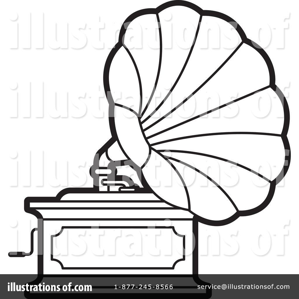 royalty free rf gramophone clipart illustration by lal perera stock sample 1244213