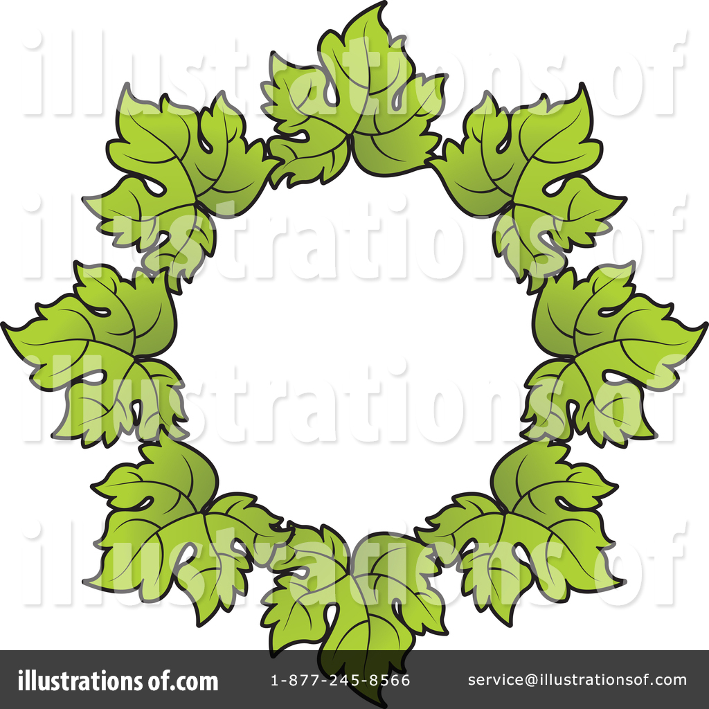 Grape Leaves Clipart 1429260 Illustration By Lal Perera