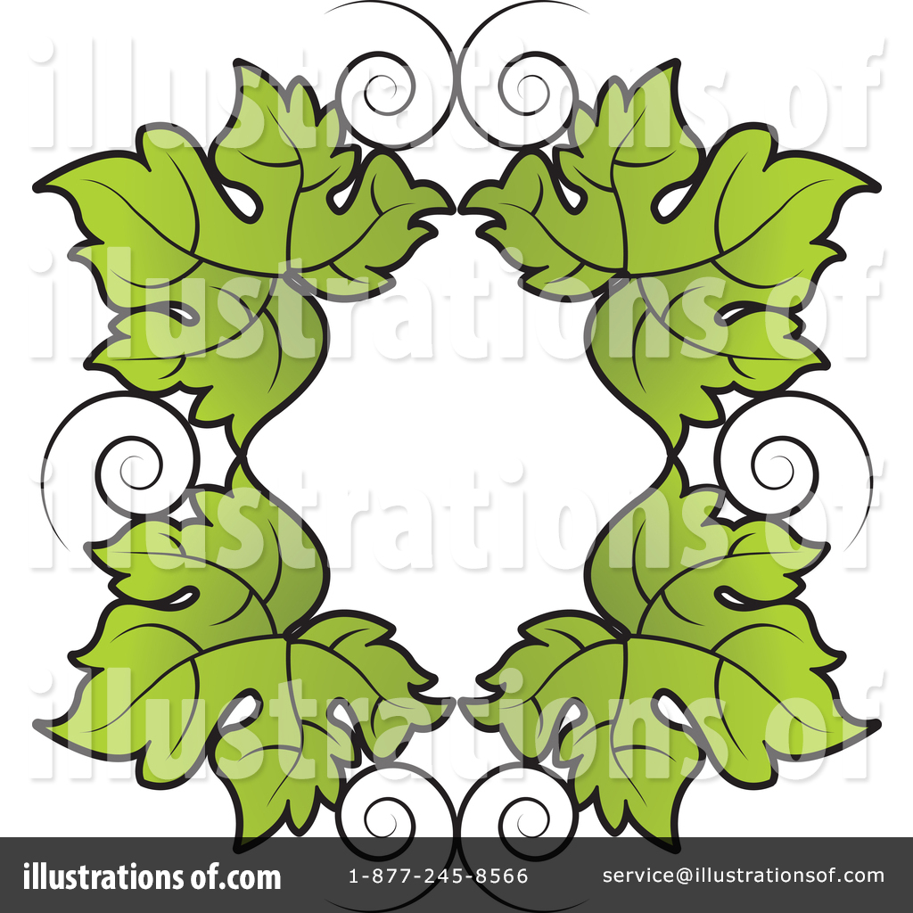 Grape Leaves Clipart 1429261 Illustration By Lal Perera