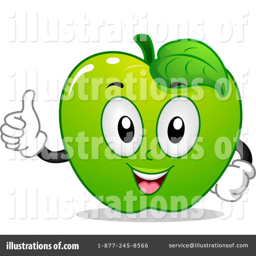 green apple clipart. royalty-free (rf) green apple clipart illustration #1145352 by bnp design studio