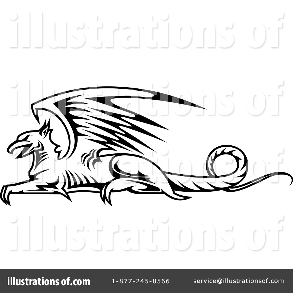 Griffin Clipart #1122937 - Illustration by Vector Tradition SM