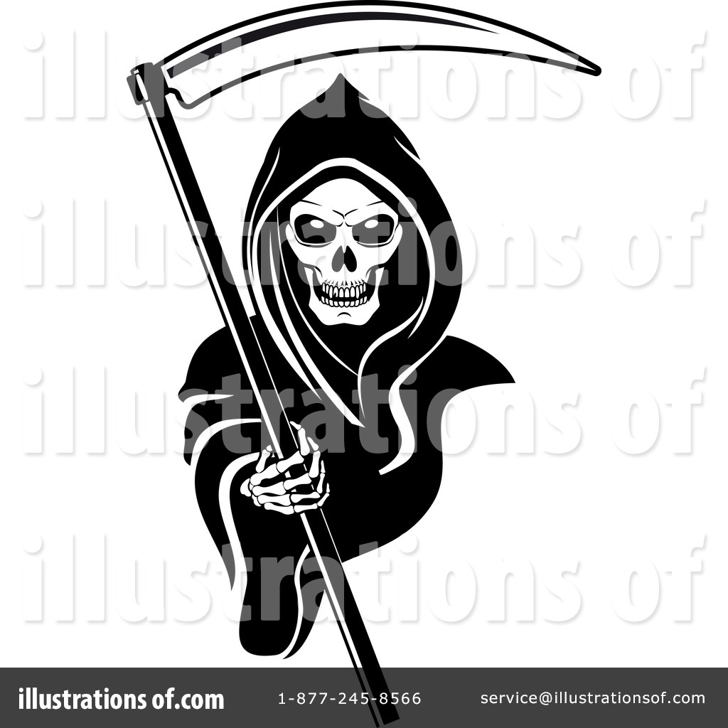 grim reaper clipart 1065873 illustration by vector tradition sm rh illustrationsof com Grim Reaper Clip Art Black and White grim reaper clip art free