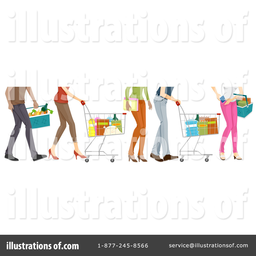 Grocery Shopping Clipart #226054 - Illustration by BNP Design Studio