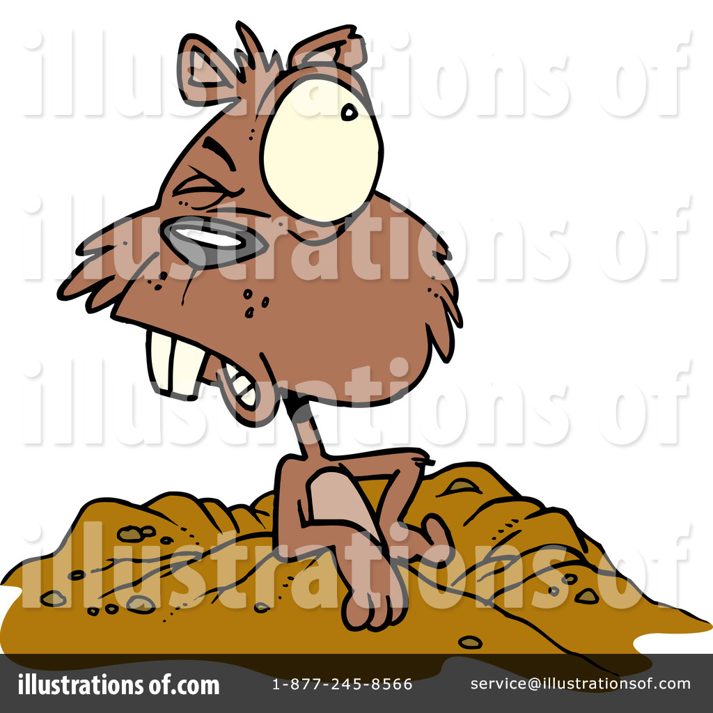 Groundhog Clipart #433695 - Illustration by Ron Leishman