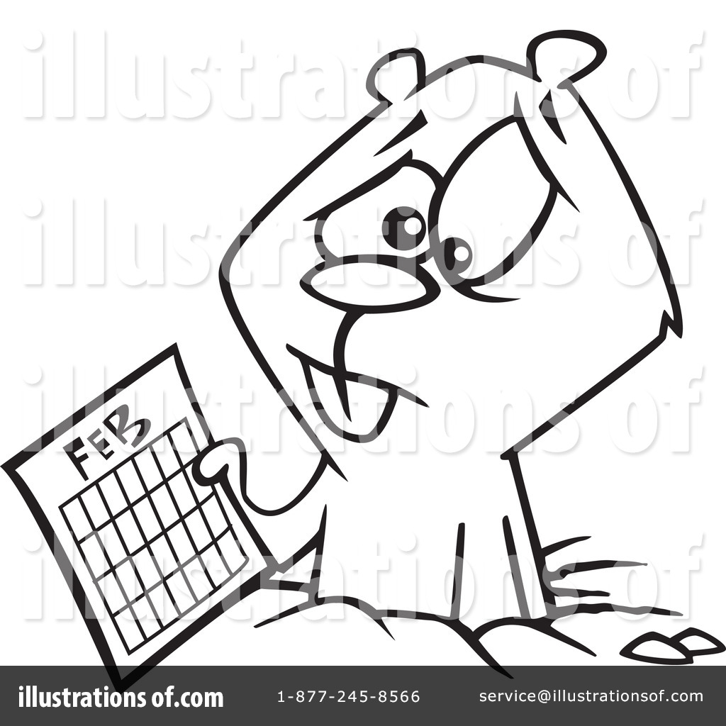 groundhog clipart 1164707 illustration by toonaday