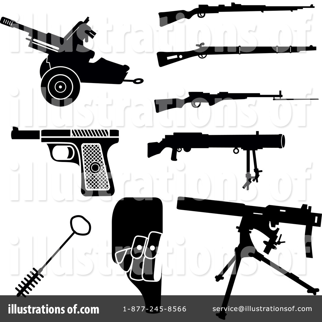Guns Clipart #1113026 - Illustration by Frisko