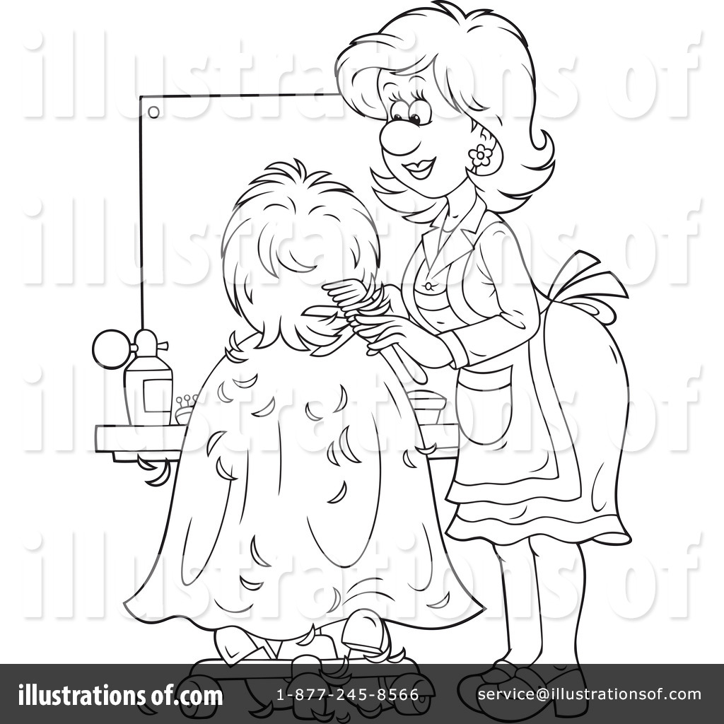 royalty free rf hair stylist clipart illustration by alex bannykh stock sample
