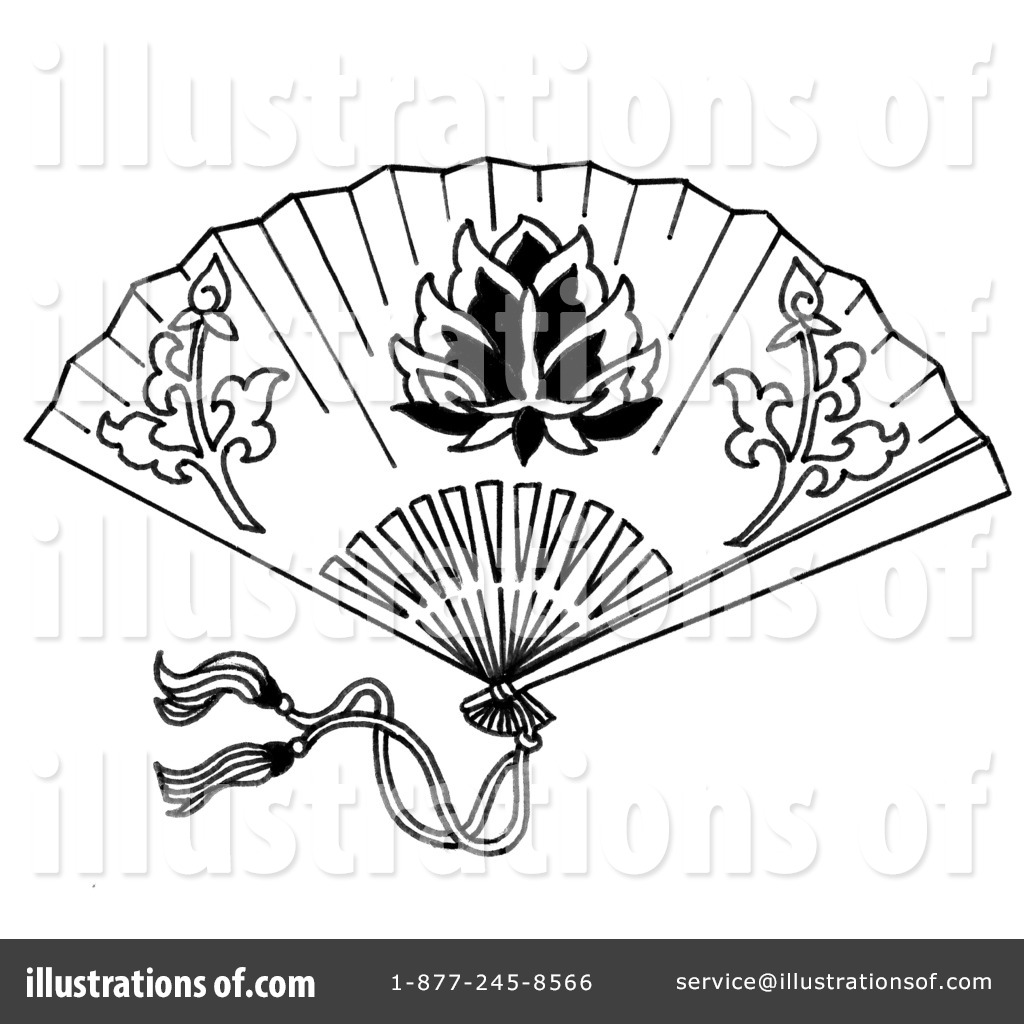 Hand Fan Clipart 1238416 Illustration By Loopyland