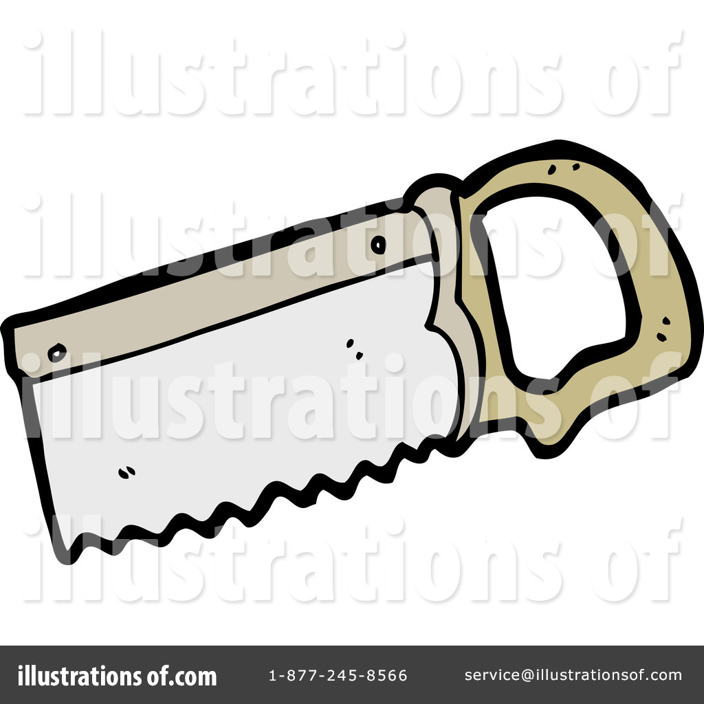 hand saw clipart. royalty-free (rf) hand saw clipart illustration #1148300 by lineartestpilot