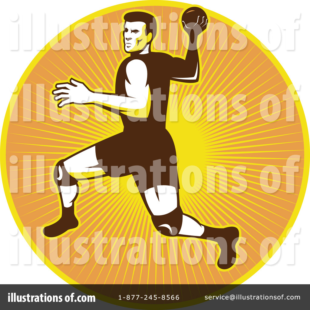 Handball Clipart #1292507 - Illustration by patrimonio