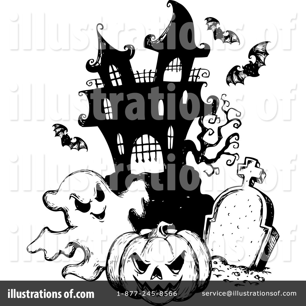 Haunted House Clipart #1124535 - Illustration by visekart