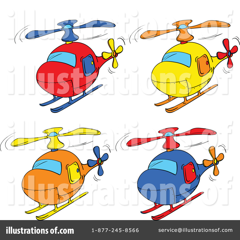Helicopter Clipart #1120517 - Illustration by colematt