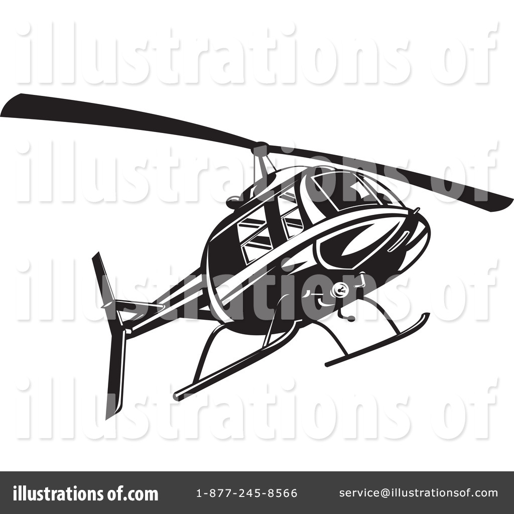Helicopter Clipart #1145608 - Illustration by patrimonio for Helicopter Clipart Black And White  157uhy