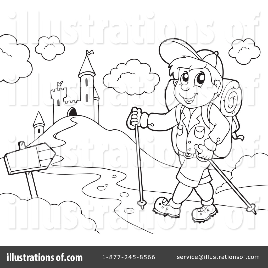 Royalty Free RF Hiking Clipart Illustration 1070182 By Visekart