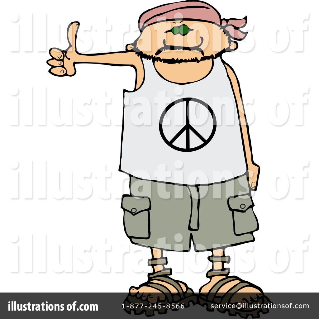 Hitchhiker Clipart #1357311 - Illustration by djart