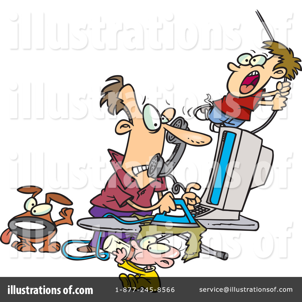 free home office. Royalty-Free (RF) Home Office Clipart Illustration #1044007 By Toonaday Free