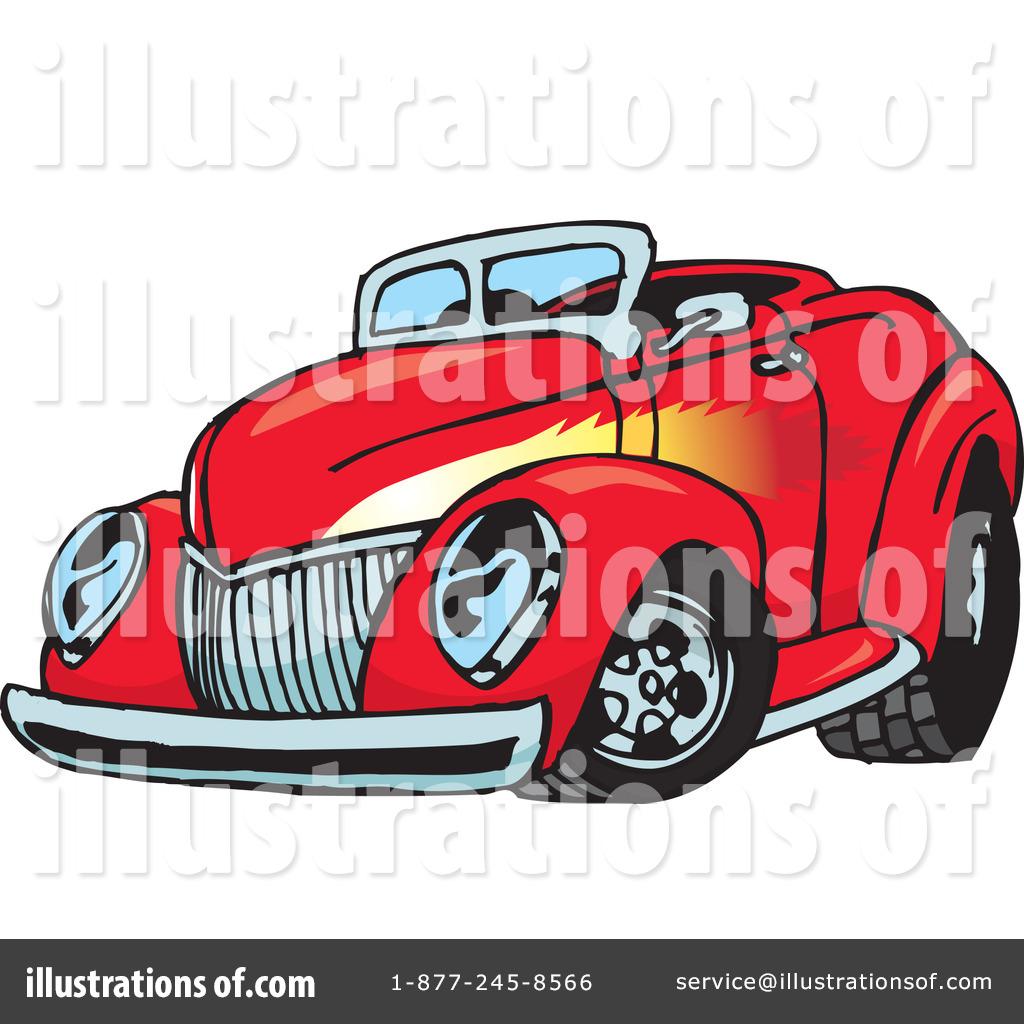 Hot Rod Clipart #65651 - Illustration by Dennis Holmes Designs