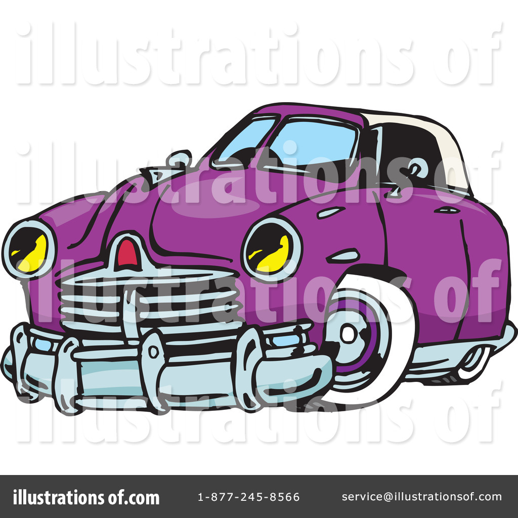 Hot Rod Clipart #65655 - Illustration by Dennis Holmes Designs