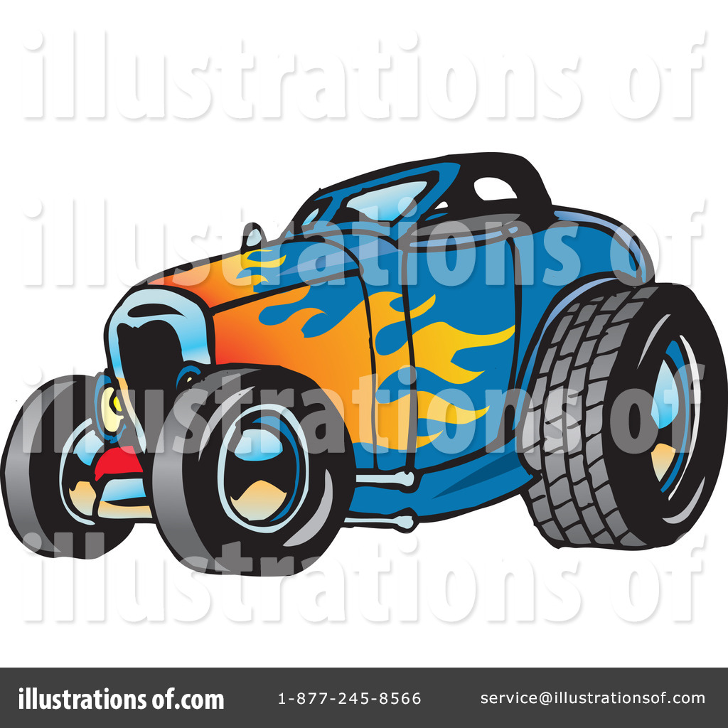 Hot Rod Clipart 65660 Illustration By Dennis Holmes Designs