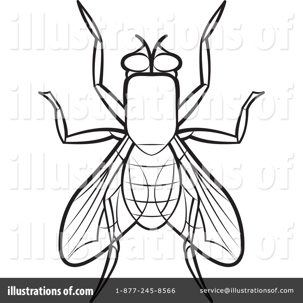 House Fly Clipart #1192469 - Illustration by Lal Perera
