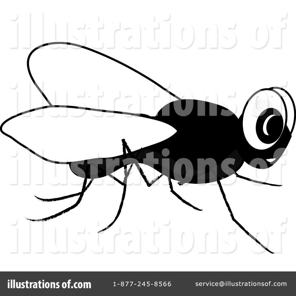 House Fly Clipart #94235 - Illustration by Pams Clipart