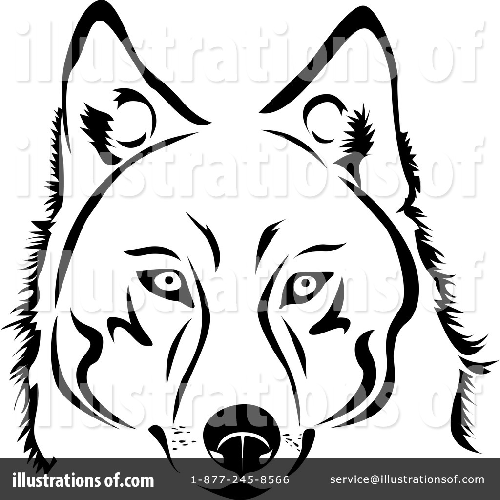 Husky Clipart #1060943 - Illustration by Vector Tradition SM