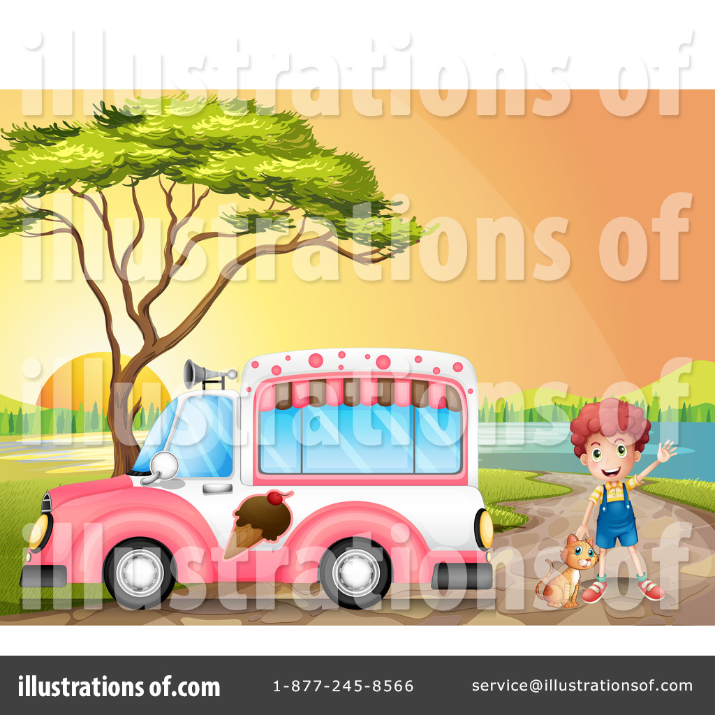 Royalty Free RF Ice Cream Truck Clipart Illustration 1184406 By Graphics