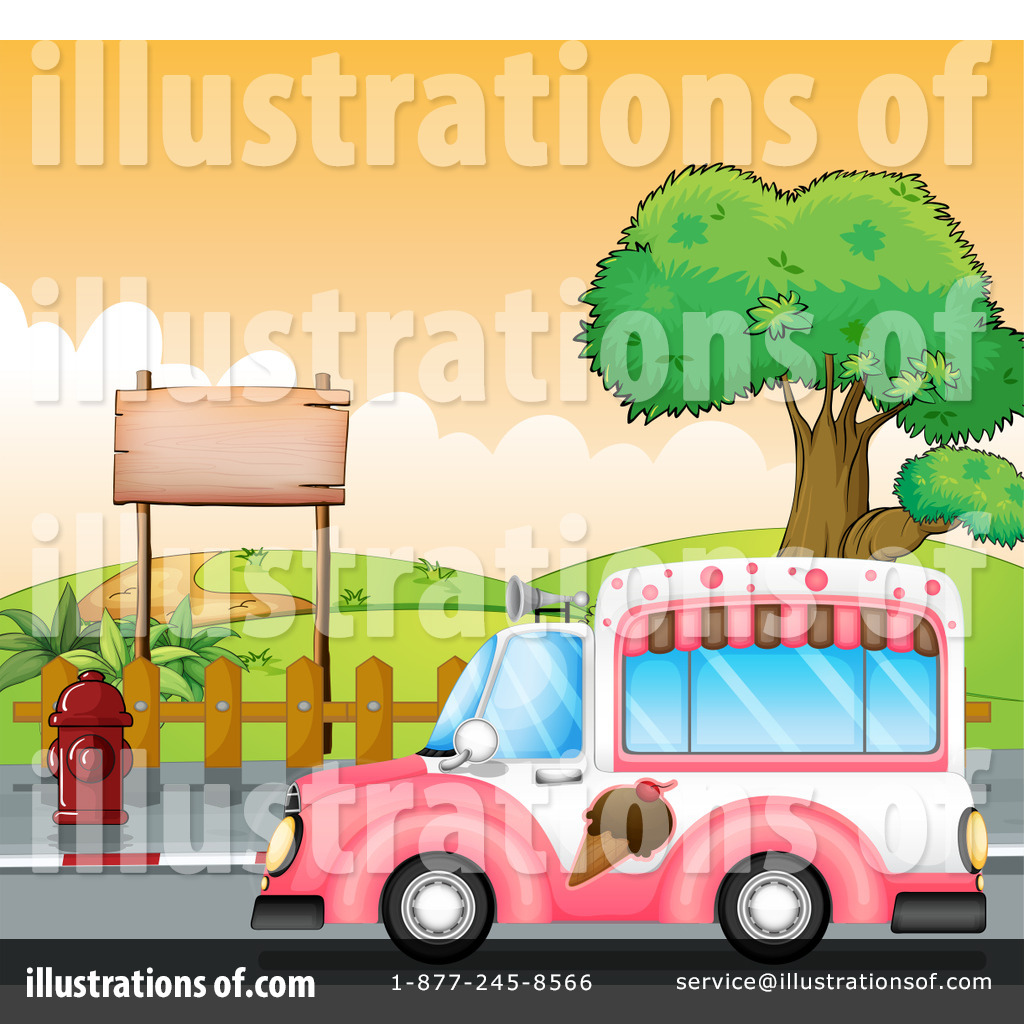 Royalty Free RF Ice Cream Truck Clipart Illustration 1184407 By Graphics