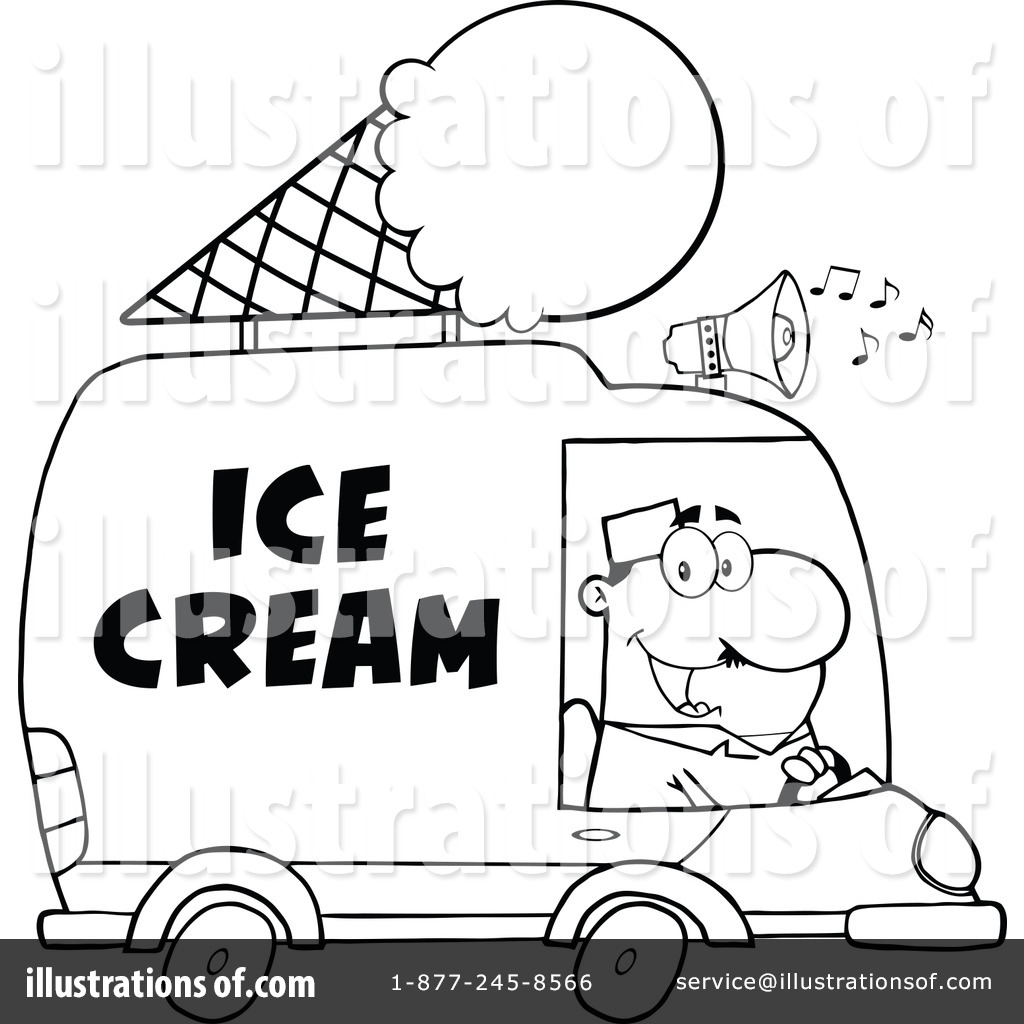 Royalty Free RF Ice Cream Truck Clipart Illustration 1253345 By Hit Toon