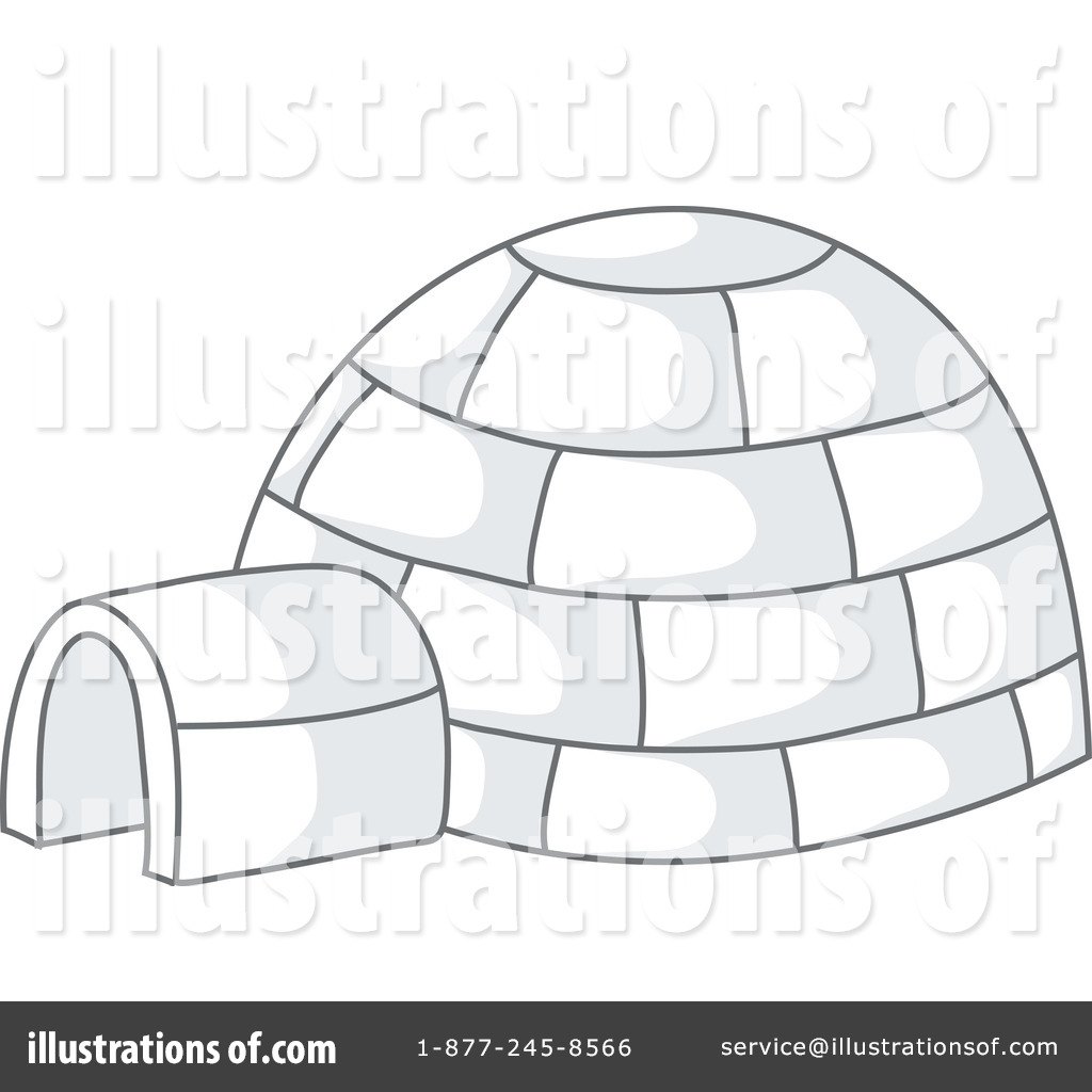 Igloo Clipart #63057 - Illustration by Rosie Piter