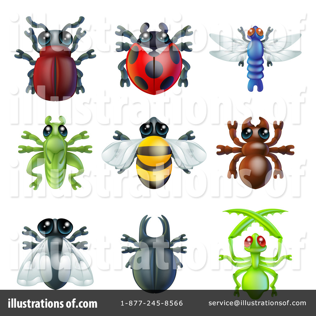 insect clipart 1176112 illustration by atstockillustration rh illustrationsof com Art Free Bugs Clip Free Flower Clip Art