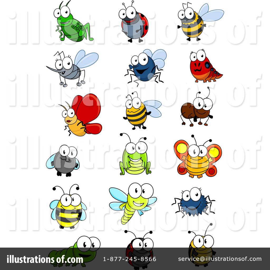 insects clipart 1280023 illustration by vector tradition sm rh illustrationsof com insects clipart black and white insects clipart black and white