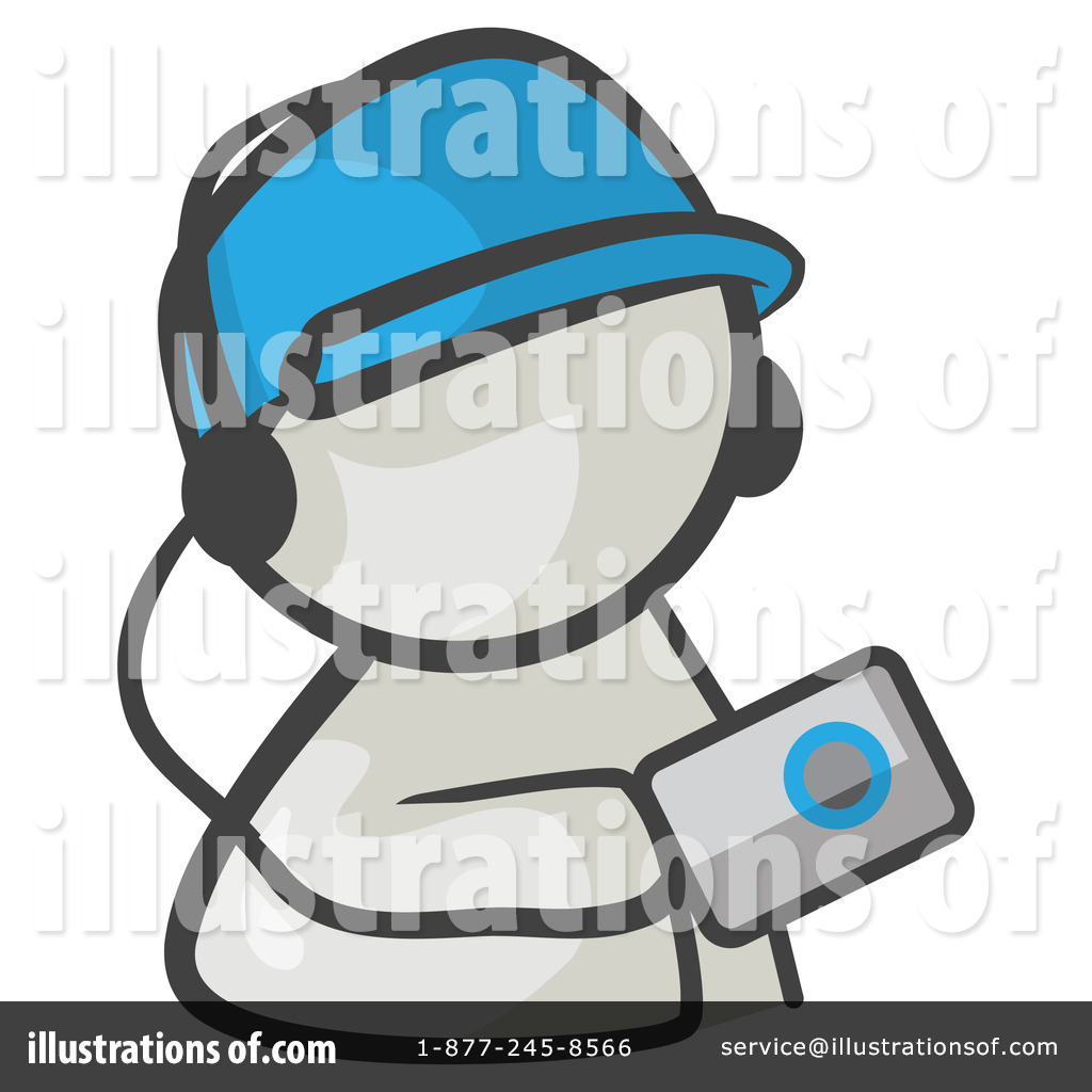 Ipod Clipart #219651 - Illustration by Leo Blanchette