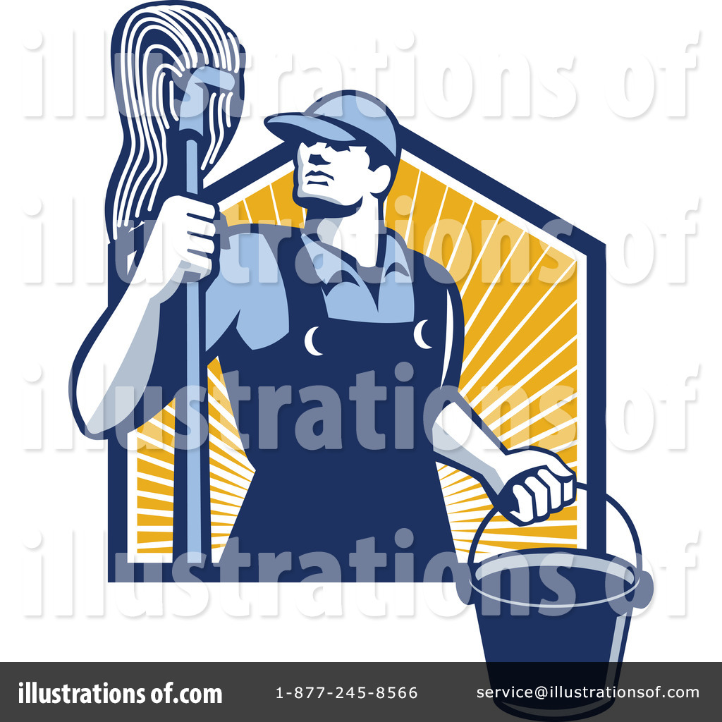janitor clipart 1211623 illustration by patrimonio rh illustrationsof com Janitorial Equipment janitorial clipart free