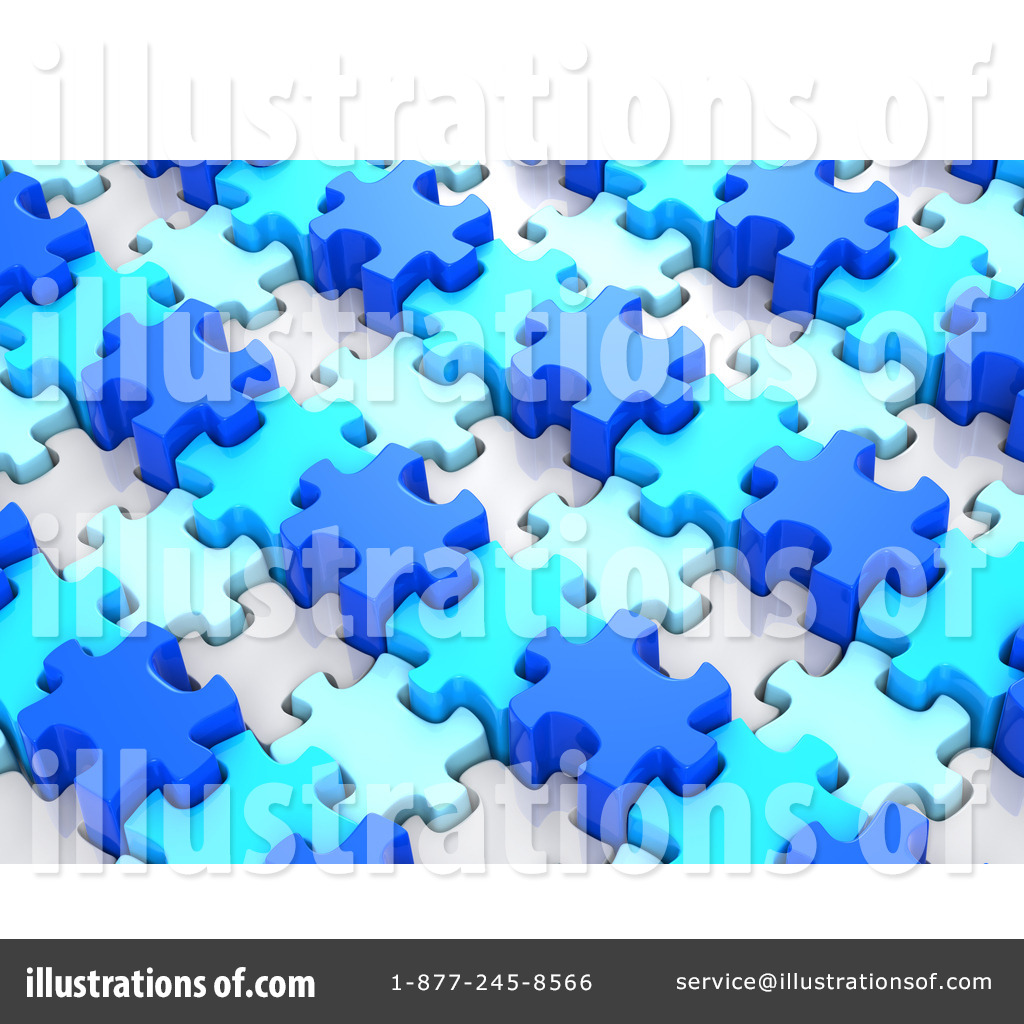 Royalty Free RF Jigsaw Puzzle Clipart Illustration By Tonis Pan