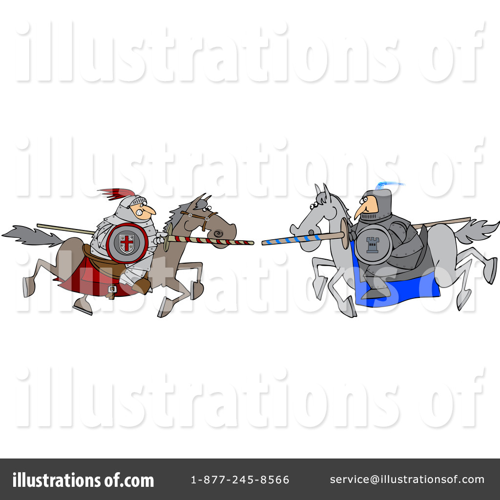 Joust Clipart #1088321 - Illustration by Dennis Cox