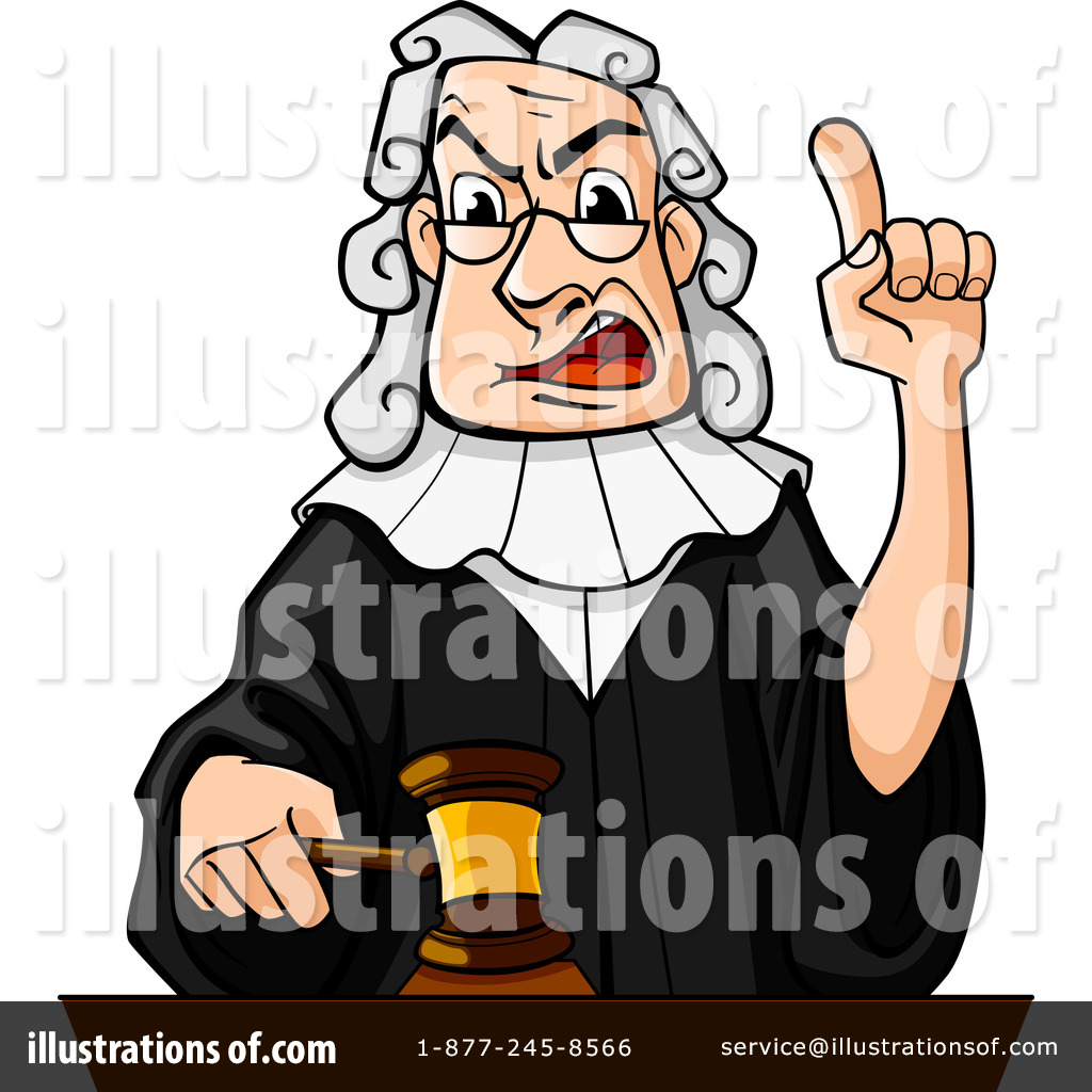 Judge Clipart #1082404 - Illustration by Vector Tradition SM