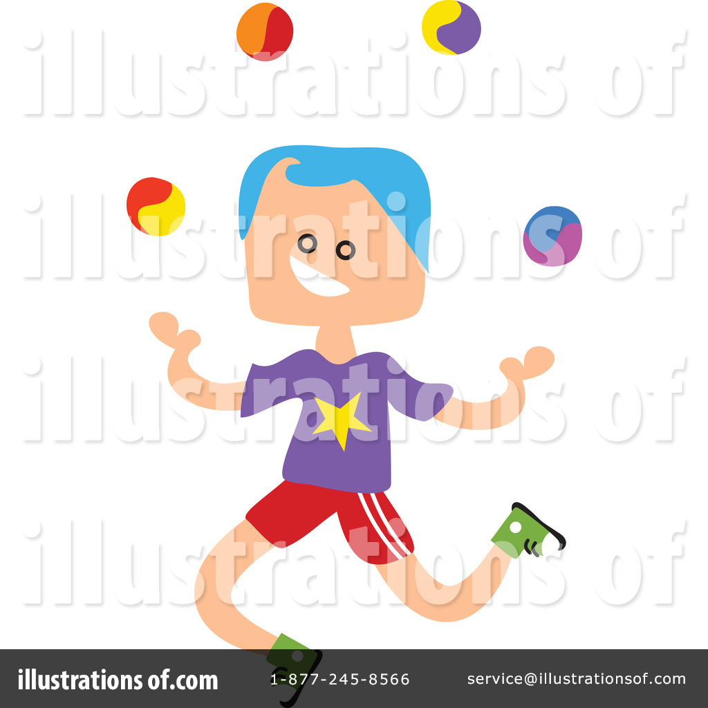 A Girl Juggling On White Background Illustration Royalty Free Cliparts,  Vectors, And Stock Illustration. Image 100244047.
