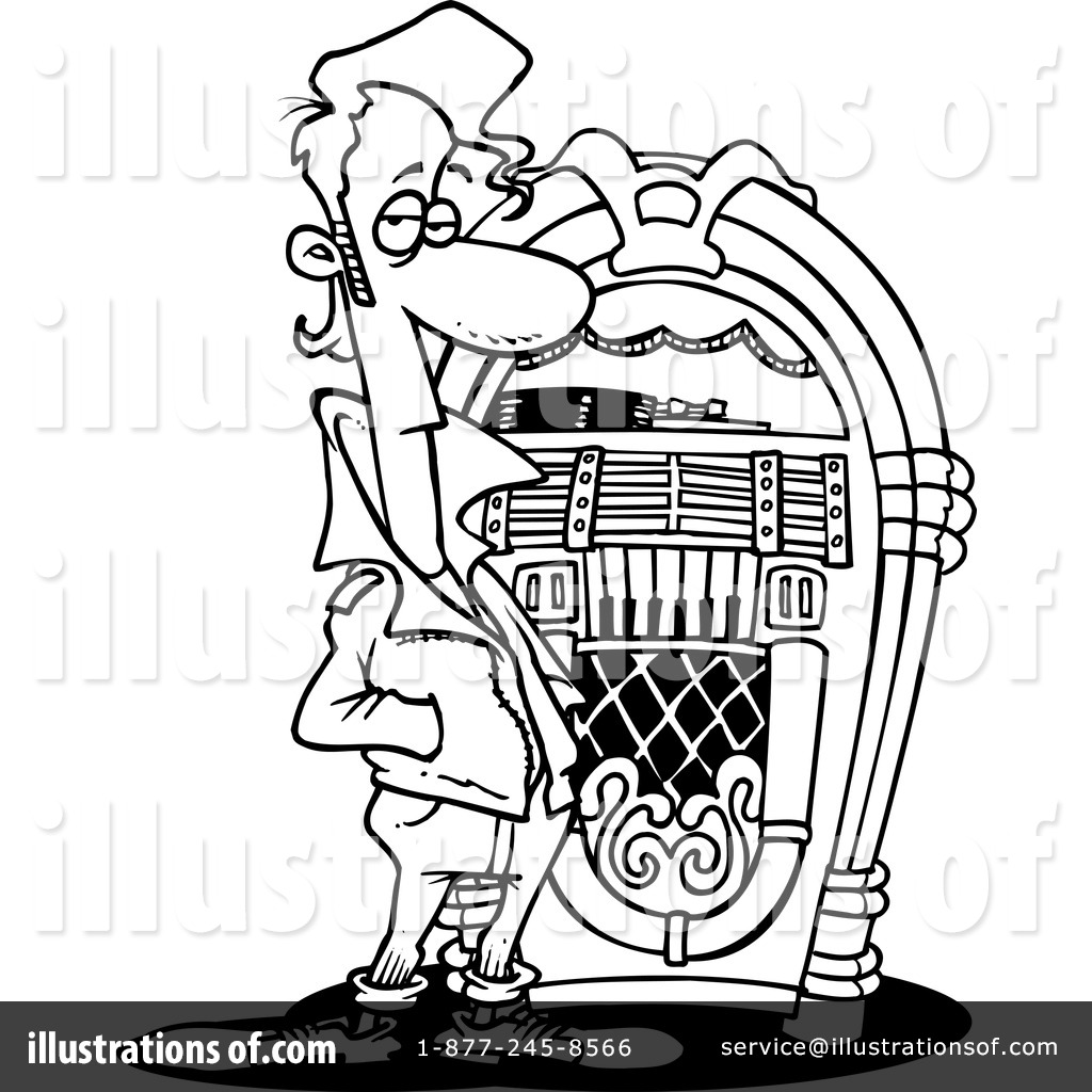 Line Art Jukebox : Jukebox clipart  illustration by toonaday