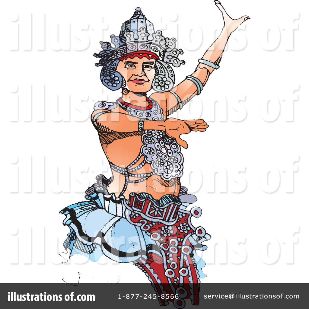 Kandyan Dancer Clipart #1356073 - Illustration by Lal Perera