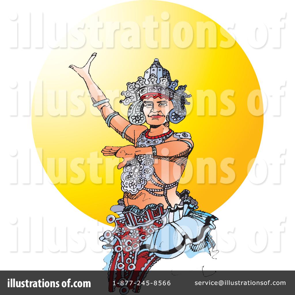 Kandyan Dancer Clipart 1356074 Illustration By Lal Perera