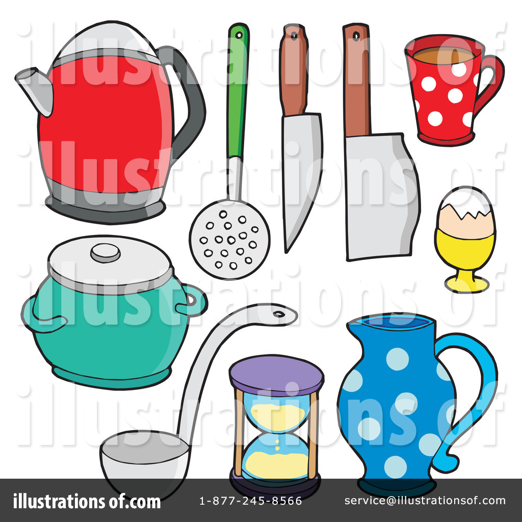 Play kitchen clip art - Royalty Free Rf Kitchen Clipart Illustration 213491 By Visekart