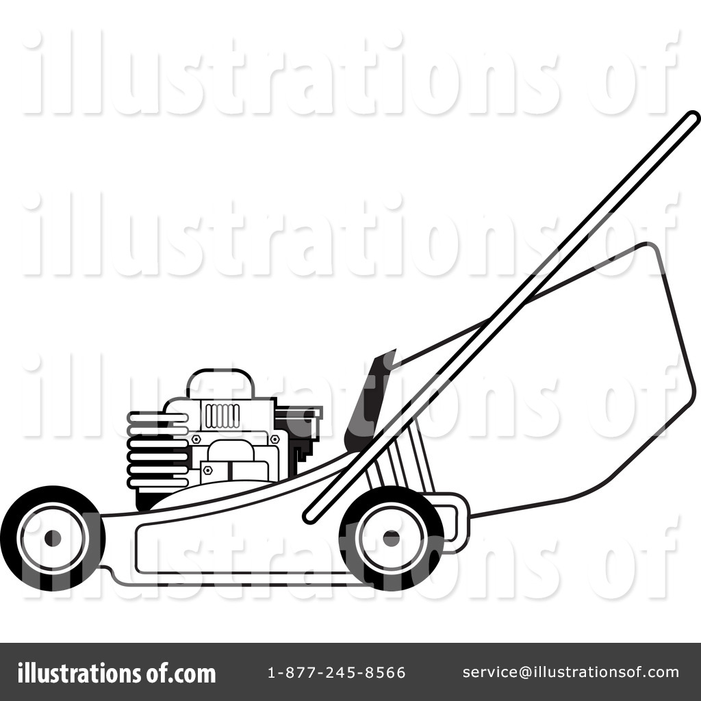 lawnmower drawing. royalty-free (rf) lawn mower clipart illustration by lal perera - stock sample lawnmower drawing r