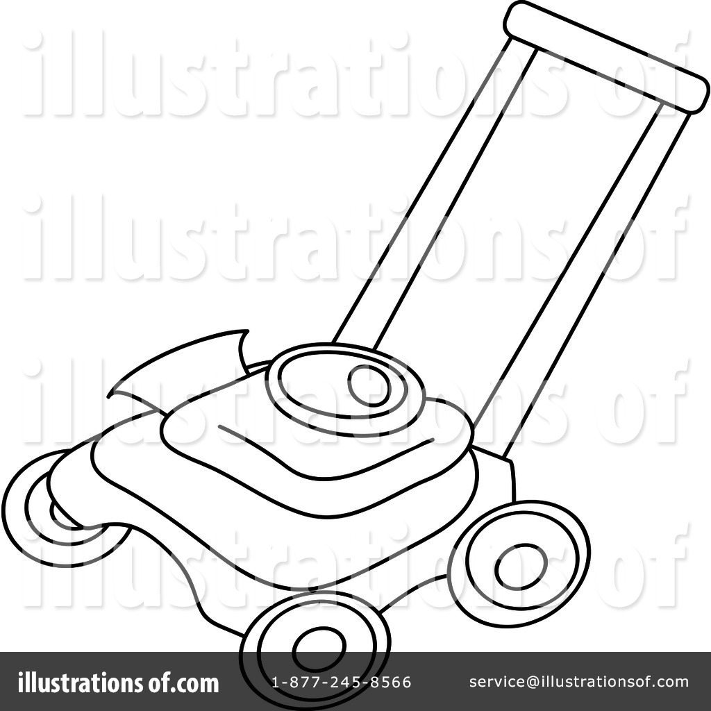 Lawn Mower Clipart #94287 - Illustration by Pams Clipart
