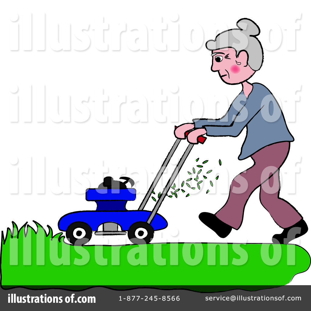 Lawn Mowing Clipart 94205 Illustration By Pams Clipart