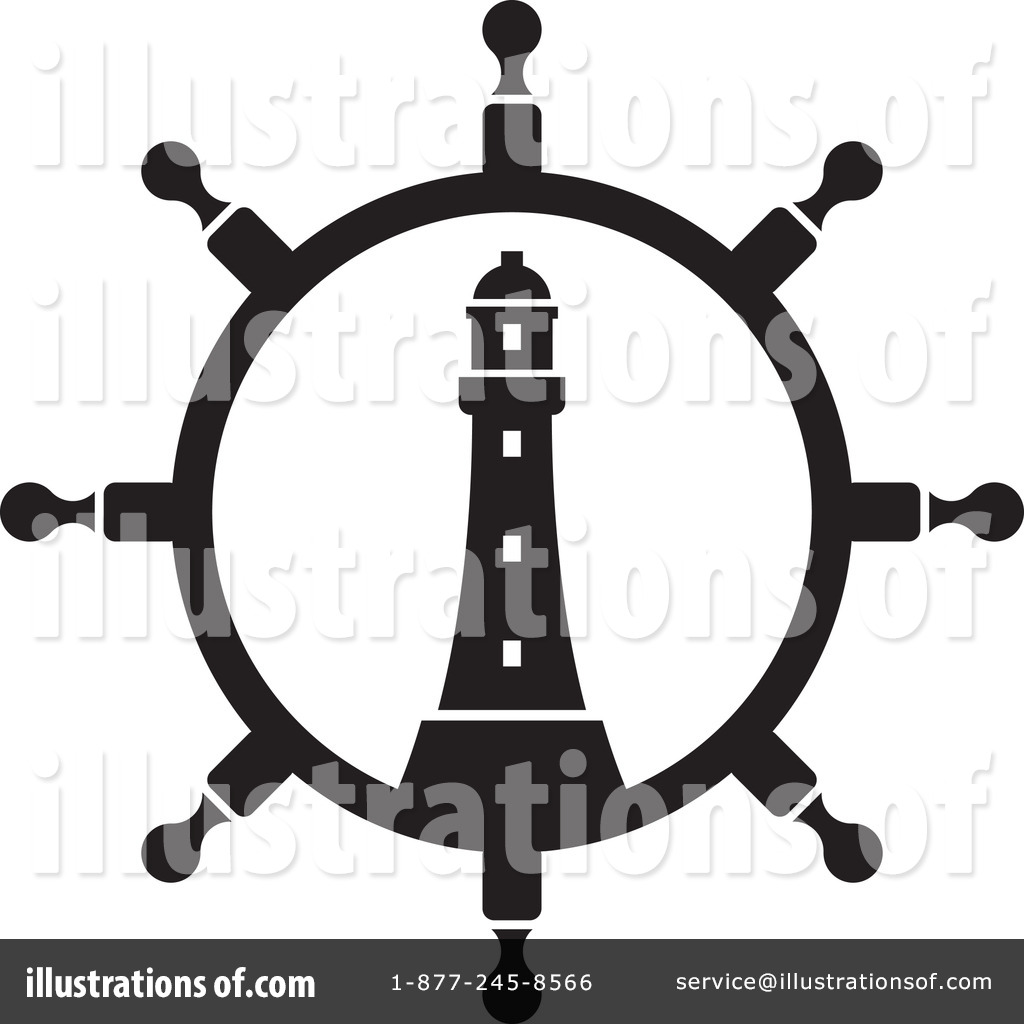 Lighthouse Clipart #1314489 - Illustration by Lal Perera