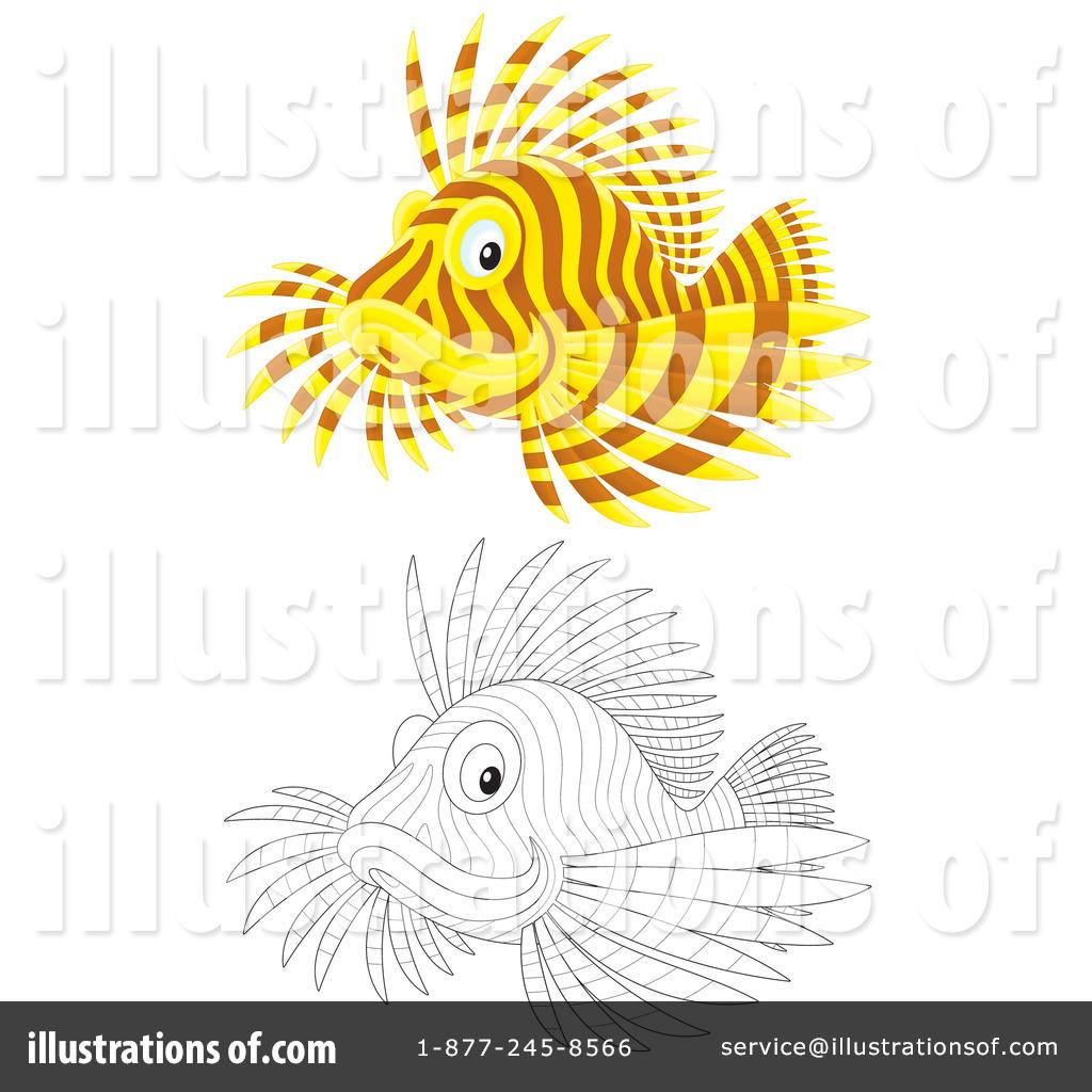 Lion Fish Clipart #1096553 - Illustration by Alex Bannykh