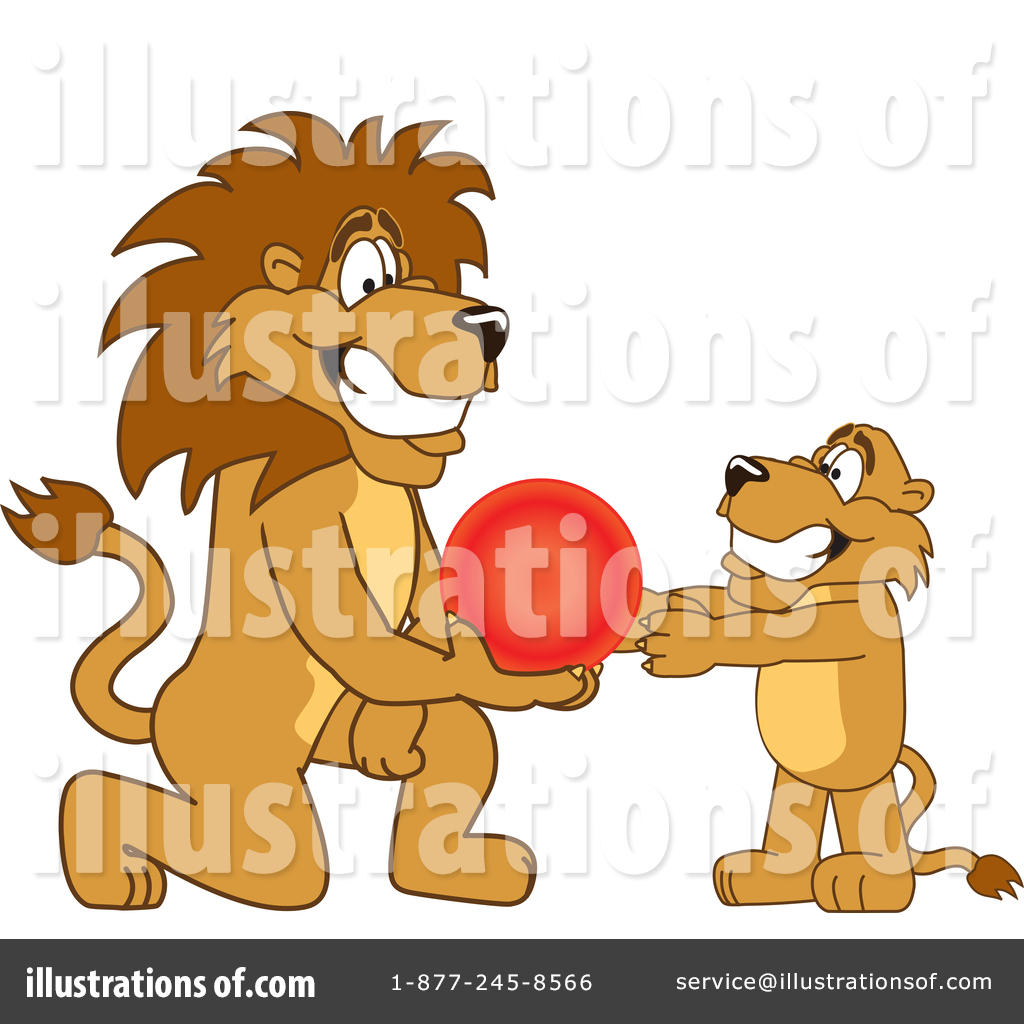 Lion School Mascot Clipart #1361791 - Illustration by Toons4Biz